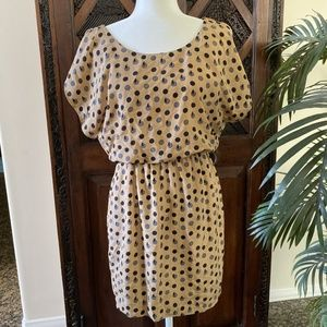 City Triangles Polka Dot Dress Size S
